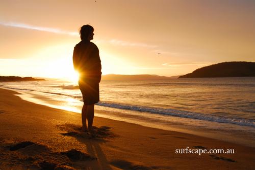 Sandpits Sunrise, Tasmania, Australia